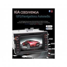 B-WARE, 2-DIN Autoradio, GPS/Navigation, DVD, speziell für Kia Ceed (B-244)