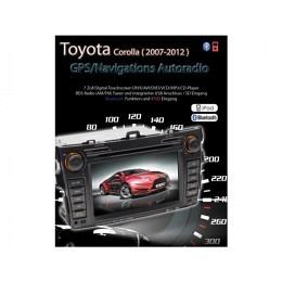2-DIN Autoradio speziell für Corolla (2007-2012) B-Ware (Nr. 240)
