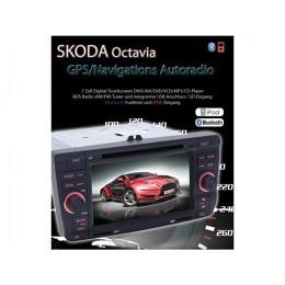 B-WARE, 2-DIN Autoradio, GPS/Navigation speziell für Skoda Octavia (B-233)