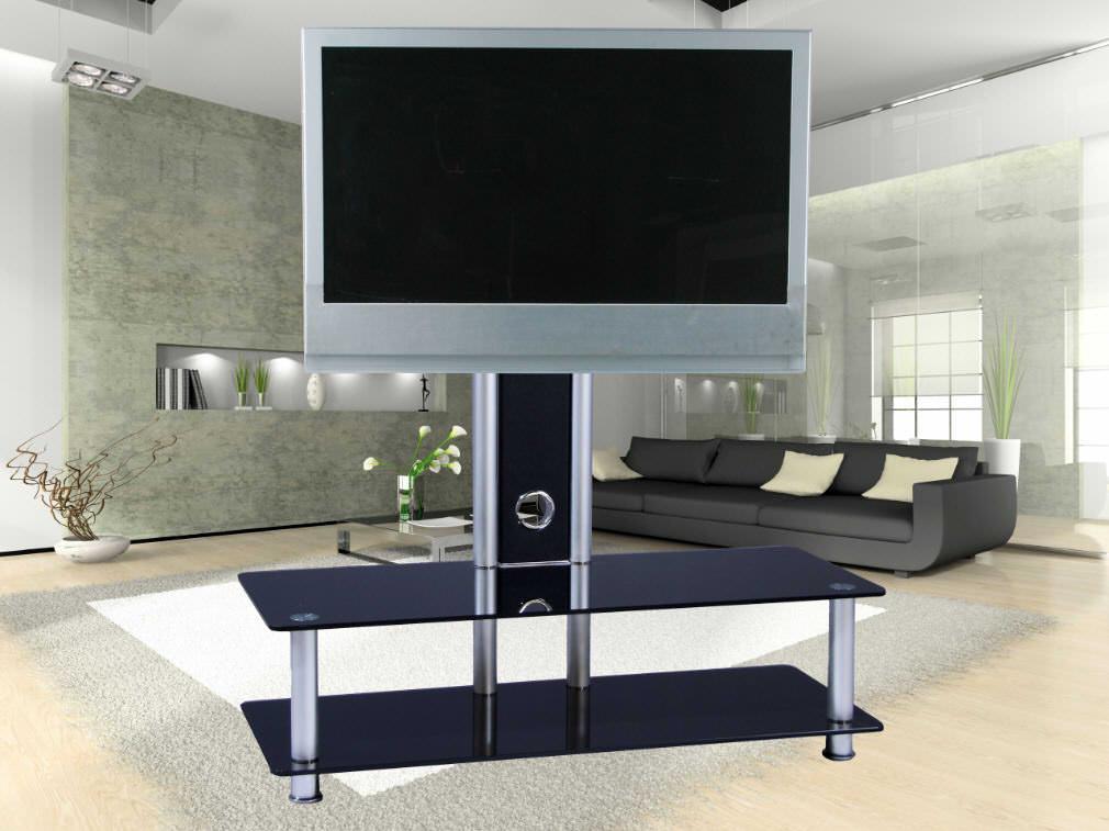 exklusives tv m bel mit halterung von berling schwarzglas drehbar favs 28b tv m bel car. Black Bedroom Furniture Sets. Home Design Ideas