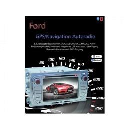 B-WARE, 2-DIN Autoradio, GPS/Navigation, DVD, für Ford C-Max, silber (B-242)