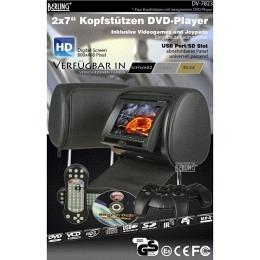 """7"""" Berling Kopfstützen mit integriertem DVD-Player, schwarz, 1 Paar"""