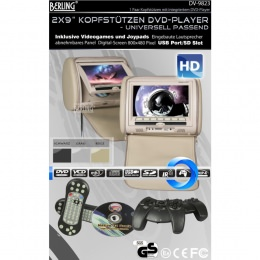 "9"" Berling Kopfstützen mit integriertem DVD-Player, beige, 1 Paar"