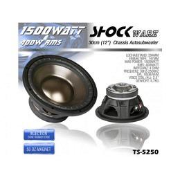 Subwoofer, 1500 Watt, 30cm, Shockware TS-5250
