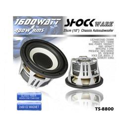 Subwoofer, 1600 Watt, 25cm, Shockware TS-8800