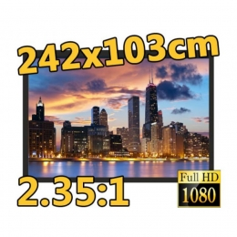 "Rahmen-Leinwand, 2.35:1, 103"" (242x103cm), Premium-Linie, Berling"