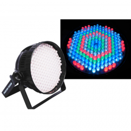 "LED DJ-Strahler, Ibiza, PAR-64, 186x LEDs, DMX-Steuerung ""LP64LED-FLAT"""