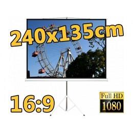 "Stativ-Leinwand, 16:9, 108"" (240x135cm), Standard-Linie, Berling"