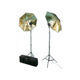 "Fotostudio-Leuchten-Set McFun, Studioleuchte, Schirm, Stativ, ""FS-110"""
