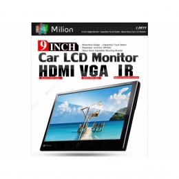 """Stand alone Monitor, 9"""", Touch Button LCD Screen, mit VGA-Anschl., Milion L0611"""
