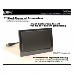 "7"" Quad-Display, 4-fach Splitscreen, TM7004"