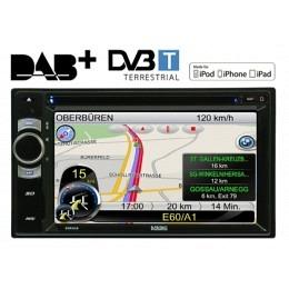 """2-DIN Autoradio, GPS, 6.2"""", MFI, inkl. DAB+ Box & Navisoftware, Berling SIRIUS"""