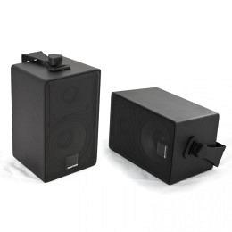 AMPIRE QX100-BLK,  60W RMS  2-Wege -10cm Aufbaulautsprecher,Farbe schwarz