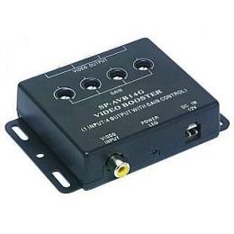 Video-Verteiler 1in 4 out 12V zum Anschluss v. 4 Monitoren