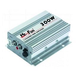 2-Kanal Mini-Verstärker 300, Watt, silber, SHOX-ZONE