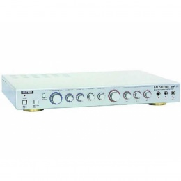 """Karaoke-Verstärker, 2x 30W, 3x Mikro-In+3x Cinch-In, silver """"Salza! 2200"""""""