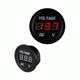 Digital Voltmeter Spannungsanzeige 12V-24V mit roter LED-Anzeige, 3,5cm rund