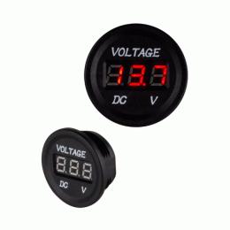 Digital Voltmeter Spannungsanzeige 12V-24V mit roter LED-Anzeige, 3,5cm rund