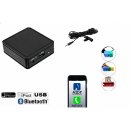 USB - Bluetooth® A2DP & Freisprechfunktion für Audi A3,A4,A6,A8,TT, mit Mini ISO