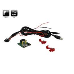 USB/AUX Austausch OEM Buchse Set ink Verkabelung für SsangYong Rexton ab 2012>