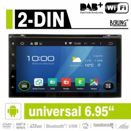 "2-DIN Autoradio, Android, DAB+ ready, 6.95"", Parrot, Berling AN-6955"