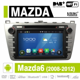 Android Autoradio für Mazda 6 2008-2012, DAB+ ready, Berling AN-8001