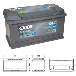 Exide Premium Superior Power EA1000 100Ah 900A Kälteprüfstrom