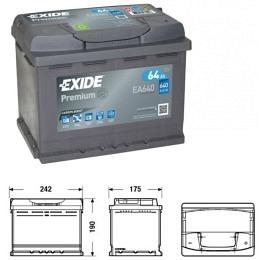 EXIDE PREMIUM Carbon Boost EA 640 12V 64AH Starterbatterie