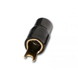 Gabelkabelschuh für 35 mm² Kabel schwarz für Anschluß an Verstärker