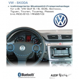 Freisprecheinrichtungs für VW-Skoda mit RNS-510,RCD-510,Columbus,Bolero,Amundsen