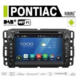 Android Autoradio für Pontiac (diverse Modelle), DAB+ ready, Berling AN-7036