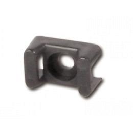 Schraubsockel schwarz zum befestigen mit Kabelbindern