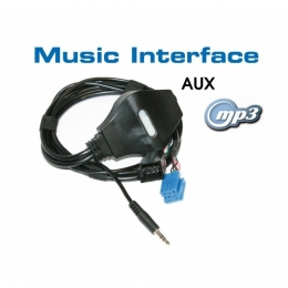 AUX-IN Adapter Mini-ISO für AUDI, VW, SEAT, SKODA