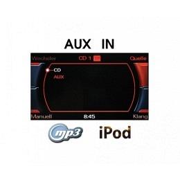 AUX-IN Nachrüst-Set für Audi A4 (8K),A5 (8T),Q5 (8R) mit Radio Concert/Symphony