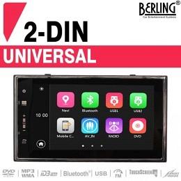 2-DIN Autoradio, Deckless, kapazitiver Touchscreen, Navigation, Berling TS-2088