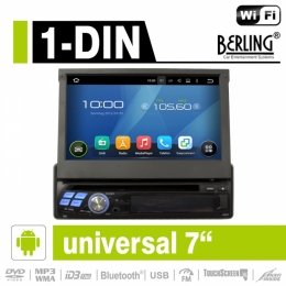 "1-DIN Android Autoradio, GPS/Navigation, 7"", Berling AN-8600"