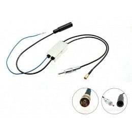DAB+ Splitter AM/FM DIN-Buchse auf DIN,DAB+/SMB Stecker