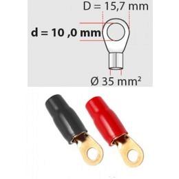 Ringösen 35 mm² D 10 mm 1 x rot / 1 x schwarz