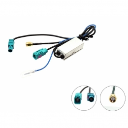 Antennensplitter (passiv) AM/FM Fakra Stecker auf Buchse, DAB/SMA Stecker