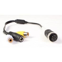 Adapterkabel, 4-Pin Gewindestecker (female) auf 2x Cinchbuchse