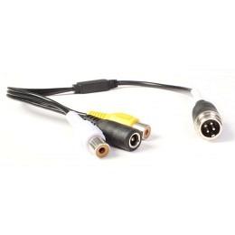 Adapterkabel mit 4-Pin Gewindestecker (male) auf 2x Cinchbuchse