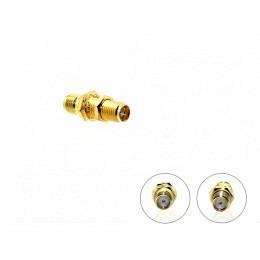 SMA Kabelverbinder SMA-Buchse auf SMA-Buchse vergoldet