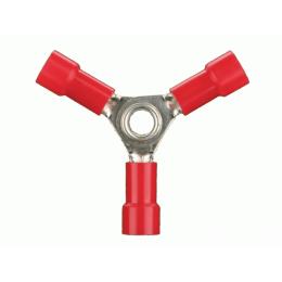 3 Wege Connector für Kabel 0.5 mm² bis 1,5 mm², Ø: 4 mm Vollisoliert,100 Stück