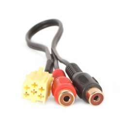 AUX Adapter ALFA ROMEO, LANCIA, FIAT ab 2007-> Mini ISO gelb auf Cinch