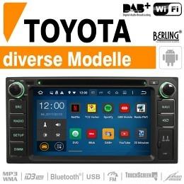 Autoradio Navigation für TOYOTA, Berling TS-1202HD-4, ANDROID Version
