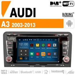Autoradio Navigation AUDI A3/S3/RS3, inkl. DAB+, Berling TS-1403F-2, ANDROID
