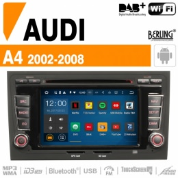 Autoradio Navigation AUDI A4, 2002-2008, inkl. DAB+, Berling TS-1404F-2, ANDROID