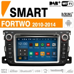 Autoradio Navigation für Smart, Berling TS-1623S-3, ANDROID Version