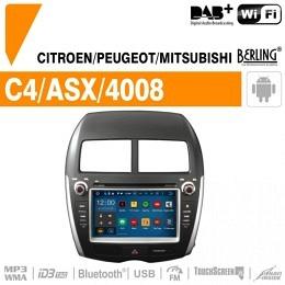 Autoradio Navigation für Peugeot, Berling TS-1705-4, ANDROID Version
