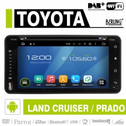 Android Autoradio für Toyota LandCruiser 1999-2007, DAB+ ready, Berling AN-6900
